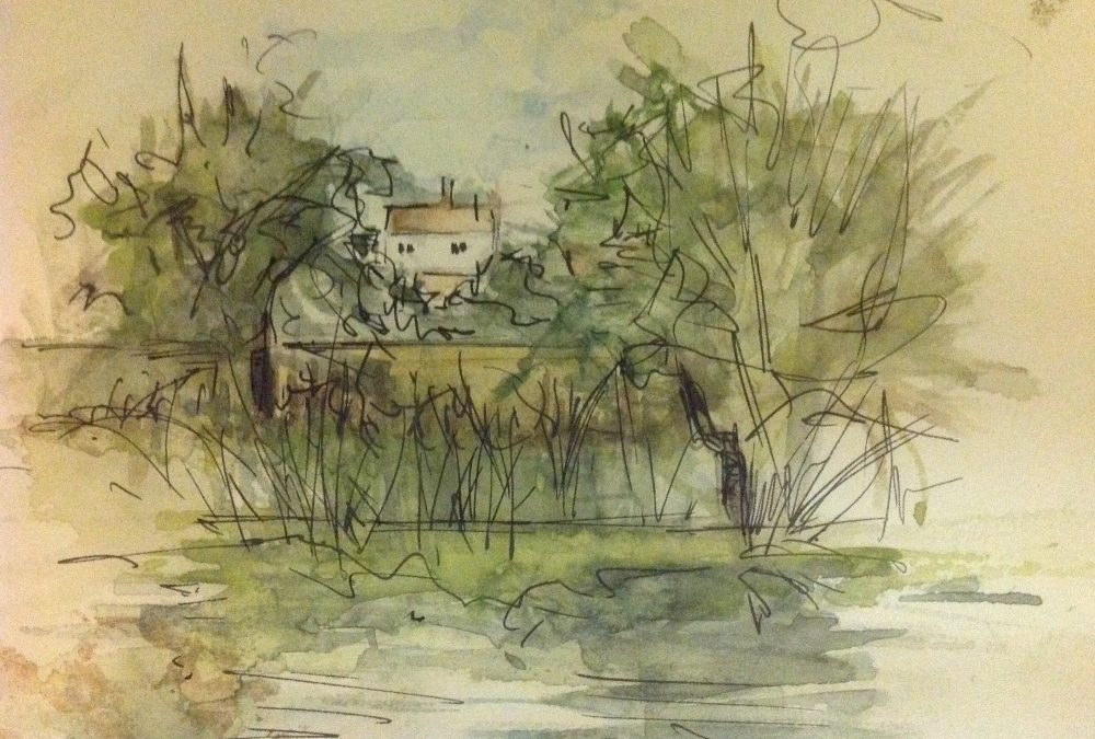 Towards town from Sturminster Mill – River Stour
